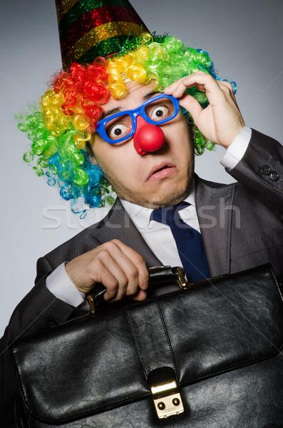 Clown zakenman grappig business partij gezicht Stockfoto © Elnur