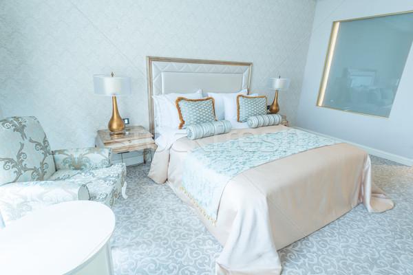 Camera da letto stanza stile moderno business casa tavola Foto d'archivio © Elnur