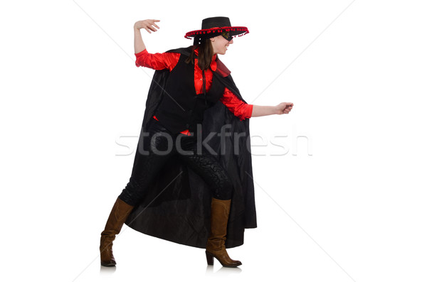 Girl in black and red carnival suit isolated on white Stock photo © Elnur