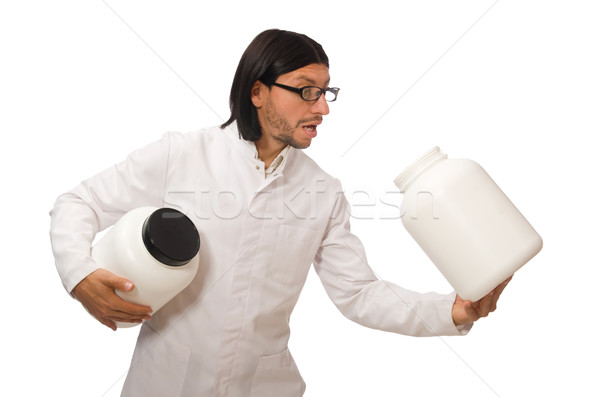 Drôle médecin protéines isolé blanche médicaux Photo stock © Elnur