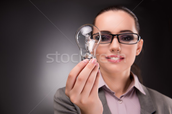 Bright idea concept with woman businesswoman Stock photo © Elnur