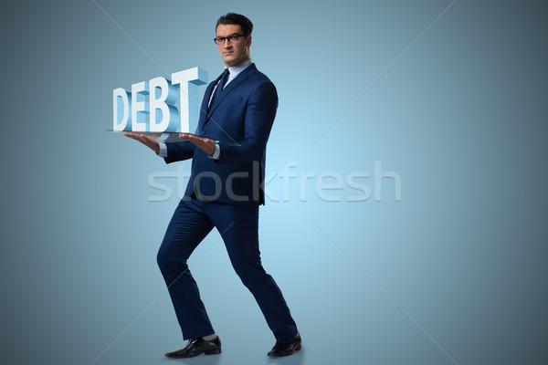 Hombre alto deuda negocios dinero Foto stock © Elnur