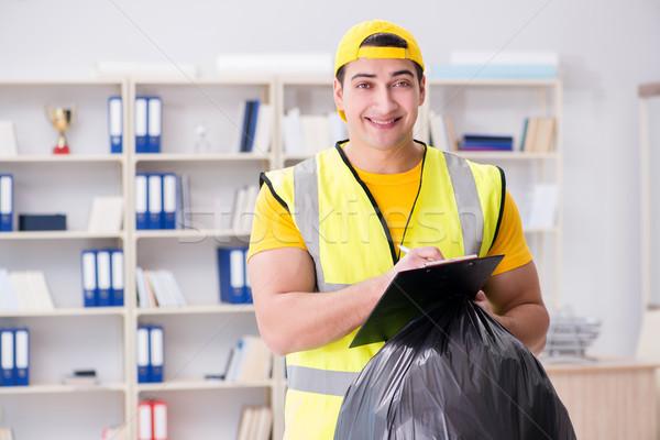 человека очистки служба мусора сумку Сток-фото © Elnur