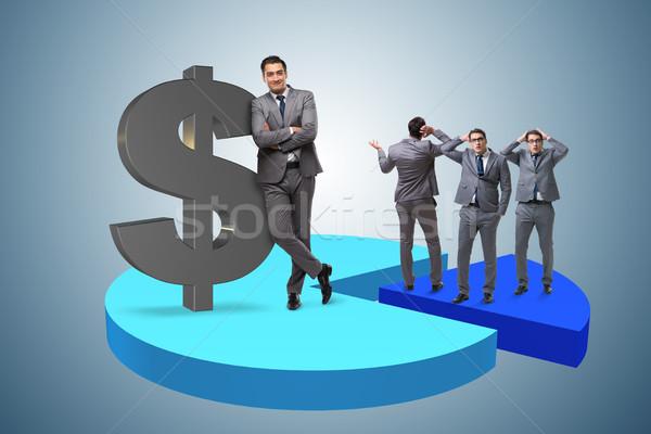 üzletember áll kördiagram üzlet munka bár Stock fotó © Elnur
