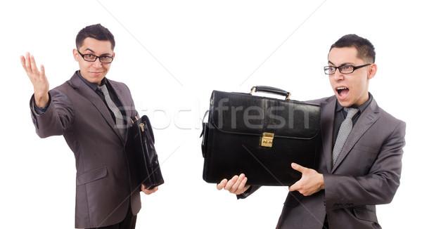 Joven maletín aislado blanco moda Foto stock © Elnur