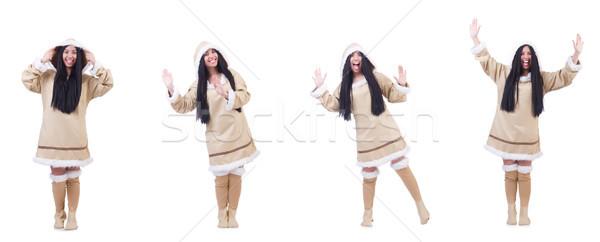 Eskimo woman isolated on the white Stock photo © Elnur