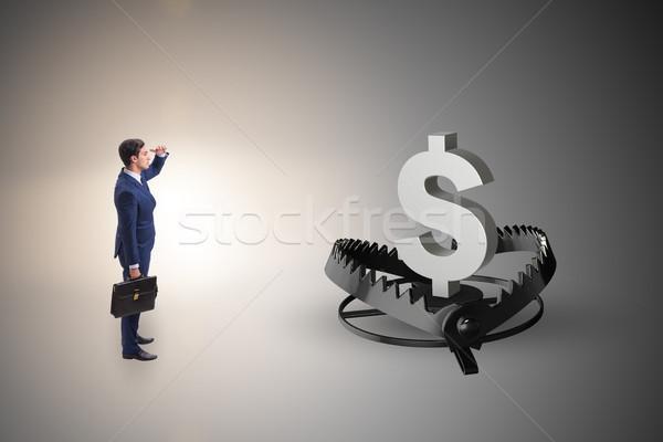 Om de afaceri prins dolar afaceri finanţa numerar Imagine de stoc © Elnur