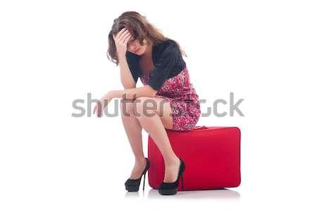 Fiatal nő utazás bőrönd üzlet lány boldog Stock fotó © Elnur