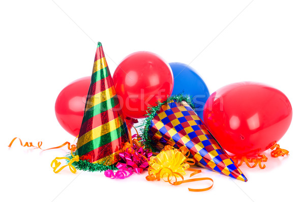 Party items on the white Stock photo © Elnur