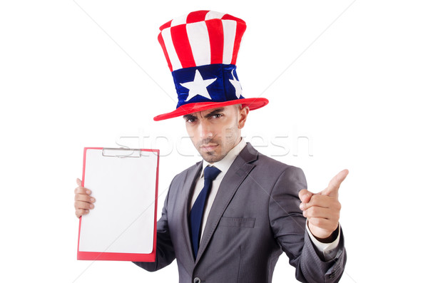 Man with binder isolated on the white background Stock photo © Elnur