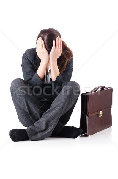Femme d'affaires isolé blanche bureau visage Photo stock © Elnur