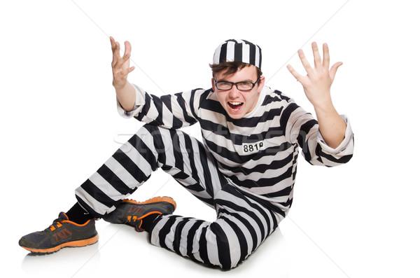 Vicces börtön bennlakó törvény rendőrség igazság Stock fotó © Elnur