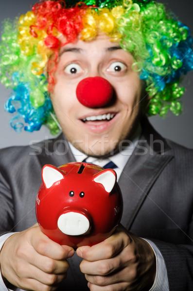 Clown skarbonka funny ceny szczęśliwy okulary Zdjęcia stock © Elnur
