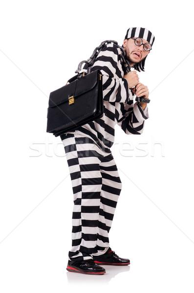 Carcere detenuto isolato bianco business imprenditore Foto d'archivio © Elnur