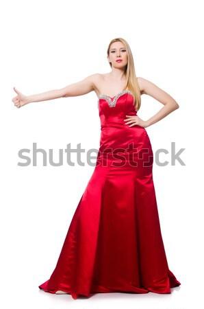 Donna isolato bianco ragazza modello Foto d'archivio © Elnur