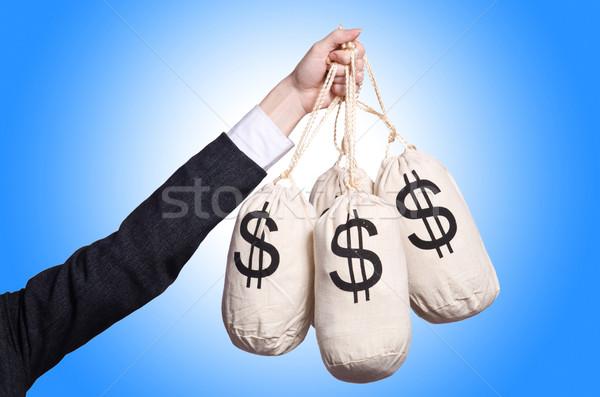 женщину деньги белый лице счастливым работу Сток-фото © Elnur