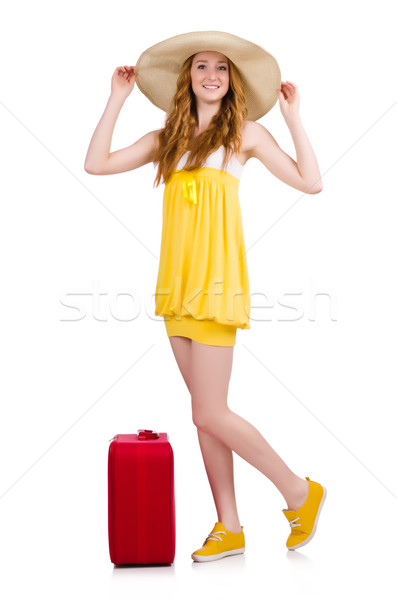 женщину Летние каникулы белый девушки счастливым моде Сток-фото © Elnur