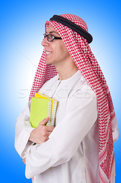 Arab student isolated on white Stock photo © Elnur