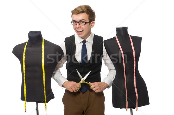 Jovem masculino alfaiate isolado branco homem Foto stock © Elnur