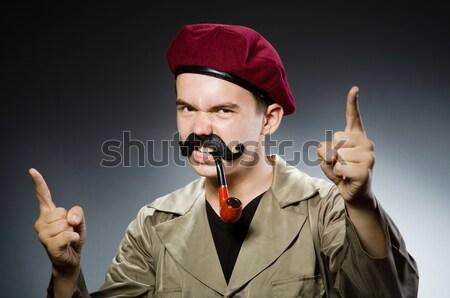 Criminal a rayas uniforme hombre seguridad Foto stock © Elnur