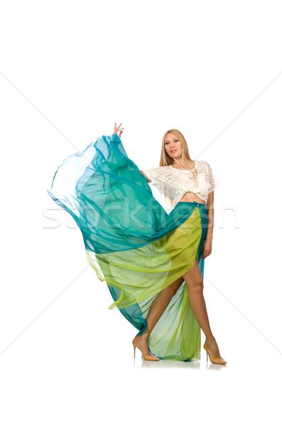 Nő divat ruházat tánc boldog tánc Stock fotó © Elnur