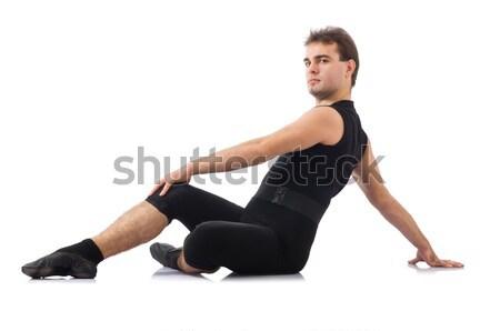 Tancerz odizolowany biały strony człowiek tle Zdjęcia stock © Elnur