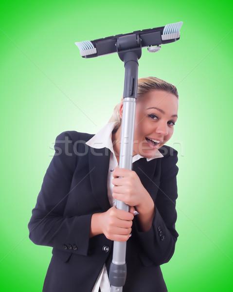 деловая женщина пылесос белый женщину дома девушки Сток-фото © Elnur