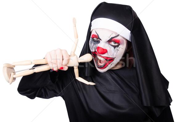 Scary suora halloween ragazza sangue bellezza Foto d'archivio © Elnur
