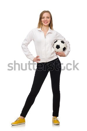Woman wearing sports costume isolated on white Stock photo © Elnur