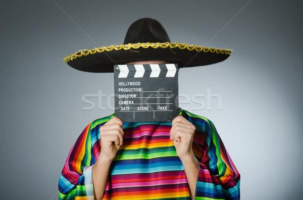 Mexicaanse man film boord film leuk Stockfoto © Elnur