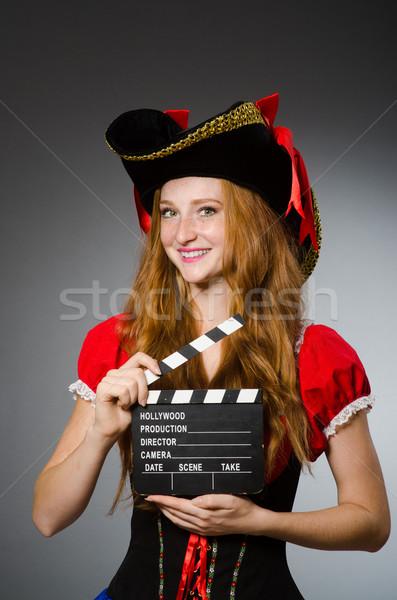 Woman in pirate costume - Halloween concept Stock photo © Elnur