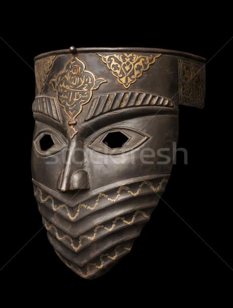 Metal mask isolated on black Stock photo © Elnur