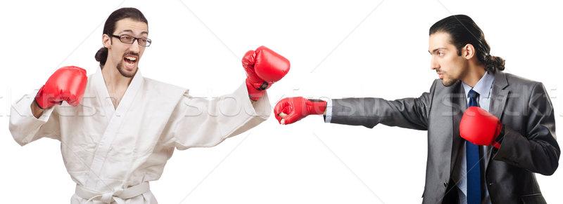 Kettő boxeralsó izolált fehér üzlet munka Stock fotó © Elnur