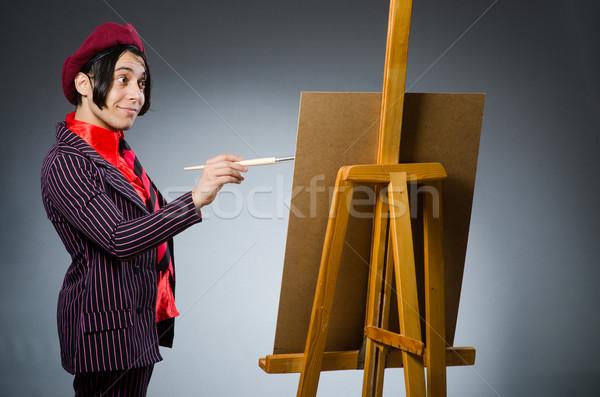 Funny Künstler Kunstwerk Rahmen Kunst Spaß Stock foto © Elnur