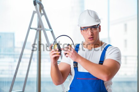 Jovem trabalhando negócio homem Foto stock © Elnur