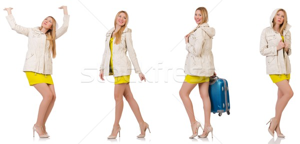 Woman in various poses isolated on white Stock photo © Elnur