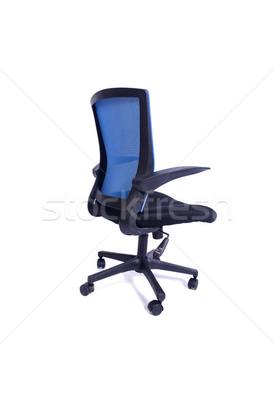 The blue office chair isolated on the white background Stock photo © Elnur