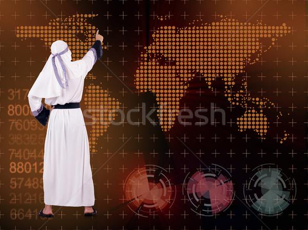 Árabe empresário global de negócios homem mundo terra Foto stock © Elnur