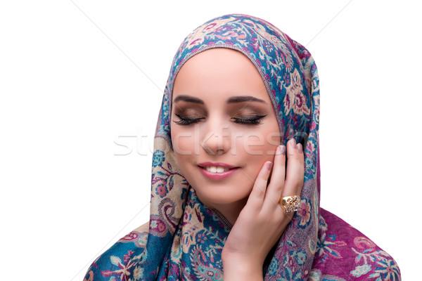 Musulmanes mujer moda aislado blanco belleza Foto stock © Elnur