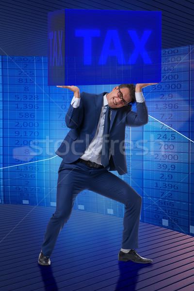 Homme impôt papier internet affaires temps Photo stock © Elnur