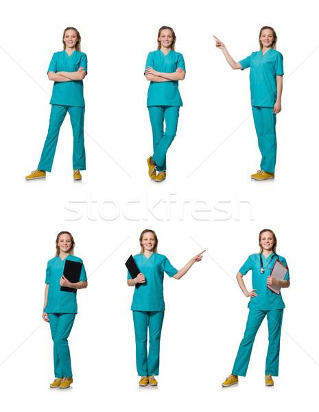 Młodych lekarza odizolowany biały kobieta tle Zdjęcia stock © Elnur