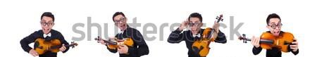 Funny więzienia więzień bezpieczeństwa pomarańczowy łańcucha Zdjęcia stock © Elnur