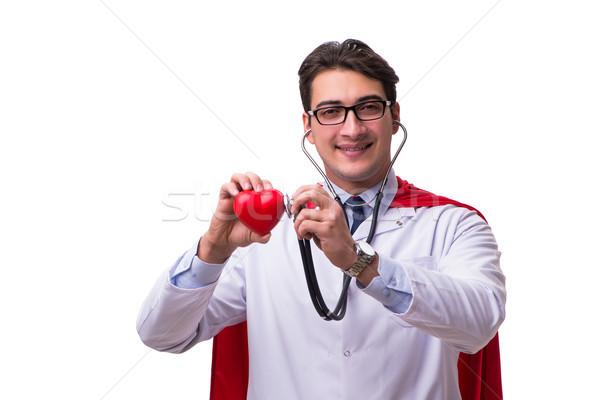 Médico isolado branco homem médico Foto stock © Elnur