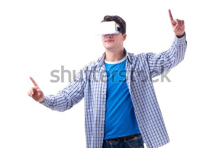Engraçado homem palhaço isolado branco festa Foto stock © Elnur