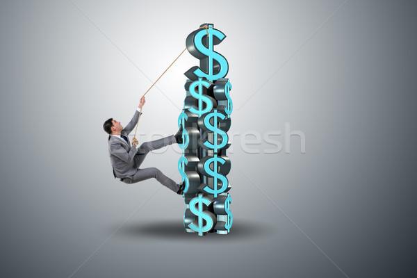 бизнесмен скалолазания доллара вызов башни бизнеса Сток-фото © Elnur