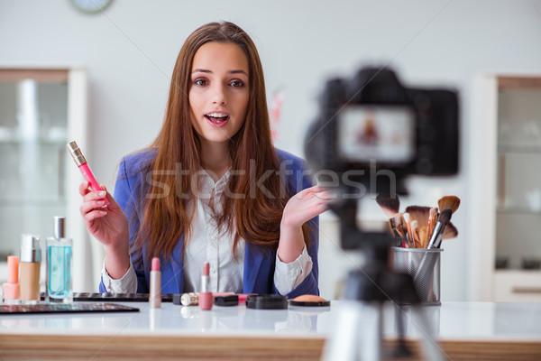 красоту моде блоггер видео женщину интернет Сток-фото © Elnur