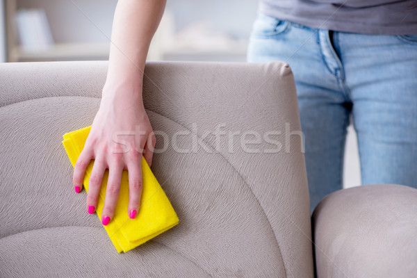 Woman doing cleaning at home Stock photo © Elnur