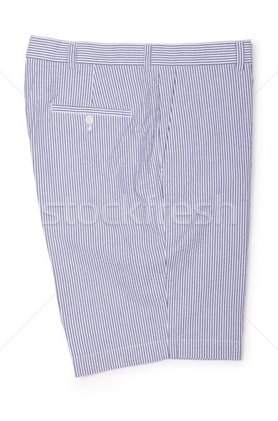 男性 ショートパンツ 孤立した 白 男 夏 ストックフォト © Elnur