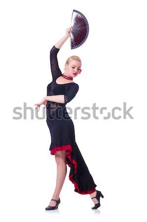 Kobiet tancerz taniec tradycyjny dziewczyna dance Zdjęcia stock © Elnur