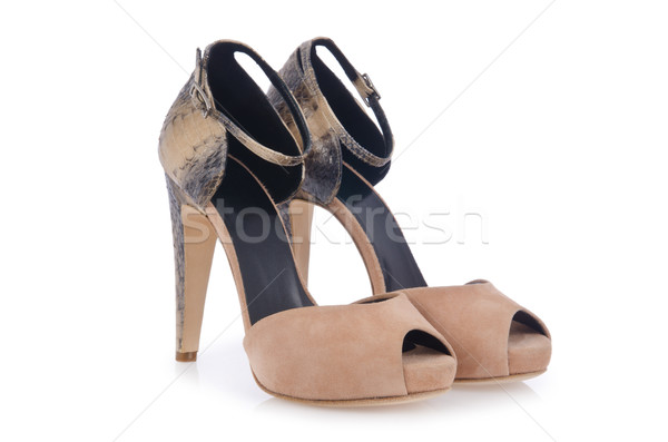 Agradable mujer zapatos aislado blanco moda Foto stock © Elnur